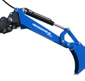Minibaggerarm mit Tieflöffel Radlader MultiOne